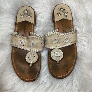 Jack Rogers Cream Sandals 7
